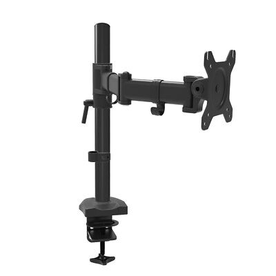 """Single Monitor Desk Mount Extra Tall Fully Adjustable Stand for up to 27"""" Screen"""