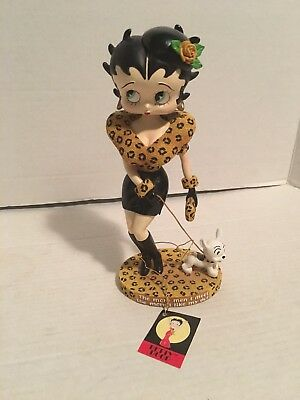 """Betty Boop Highly Rare Walking Pudgy Item 20030 Figurine Bobblehead 9"""" Tall"""