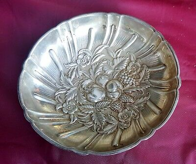 S. Kirk & Son Sterling Silver Hand Repousse Footed Berry Nut Fruit Bowl 99 Grams