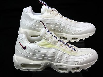 MENS NIKE AIR Max 95 Off White Leather Look Retro Classic