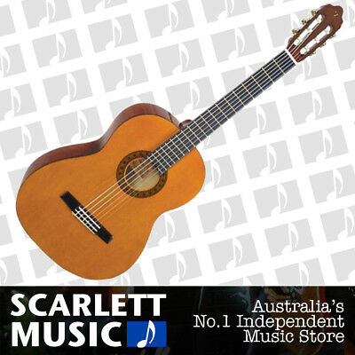 Valencia 1/4 Size Beginners Nylon Guitar VC-101 Natural - w/12 Months Warranty.
