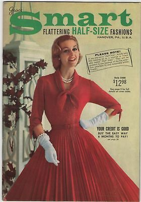 Grace Smart Hanover PA Half Size Fashions ca 1950s Vintage Catalog Women Dresses