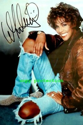 "1807 Whitney Houston, Autogramm Foto, "" One Moment in Time"""