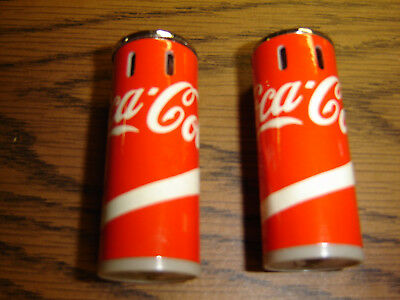 """Two Coka Cola Butane Lighters """"FOR THE PRICE OF ONE"""""""