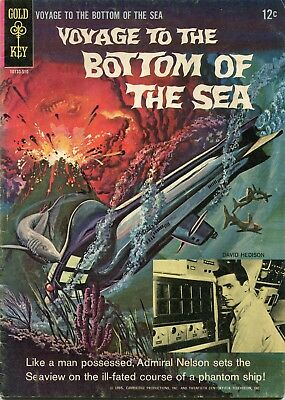 Voyage To The Bottom Of The Sea #3 - Gold Key - Cents Copy - Painted Covers-1965