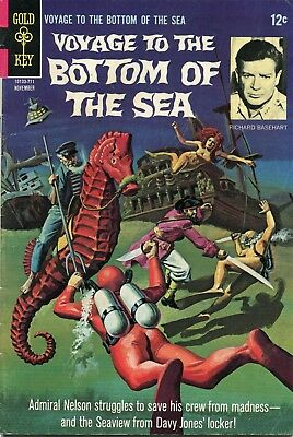 Voyage To The Bottom Of The Sea #10 - Gold Key - Cents Copy - Painted Cover-1967
