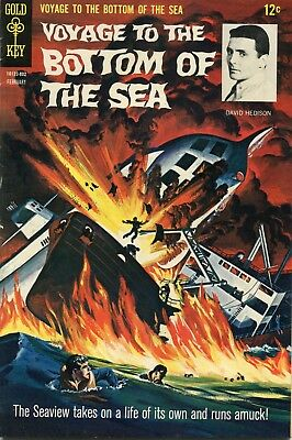 Voyage To The Bottom Of The Sea #11 - Gold Key - Cents Copy - Painted Cover-1968