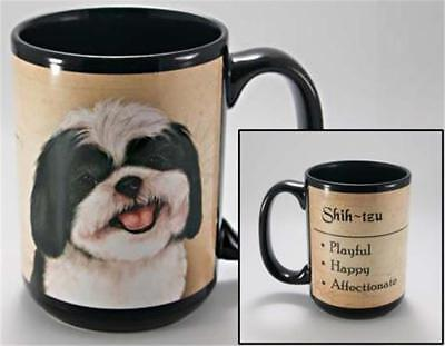 Black and White Shih Tzu Dog My Faithful Friend 15 Ounce Mug Cup Gift