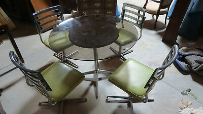 Modern Dining Room Set Table Chairs Retro