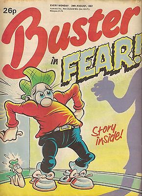 BUSTER<>BRITISH COMIC<>29th AUGUST 1987<>f-(5.5) ~