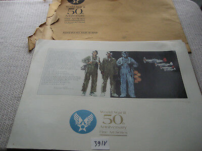 US Air Force WW2 50th Anniversary Fine Arts Series 10 LOT OF 12 Large 24X18 391V