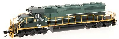 Intermountain N SD40-2 with DCC and Sound BC Rail Green