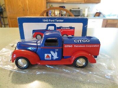 Liberty 1940 Citgo Ford Tanker Die Cast Bank with Key (1994) #65501