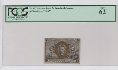Fractional Currency Civil War era item to 1870s PCGS Graded  new 62