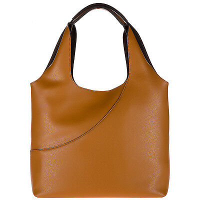 HOGAN BORSA DONNA A Spalla Shopping In Pelle Nuova Marrone 4Bd - EUR ... b71b837ea64