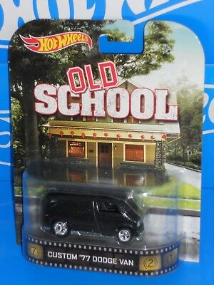 1977 Dodge Custom van Old School 1:64 Hot Wheels retro Entertainment bdt88
