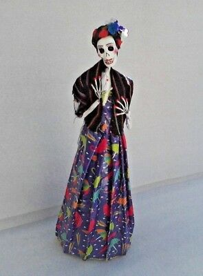 Handmade Catrina Made in  Mexico Day of the Dead Doll