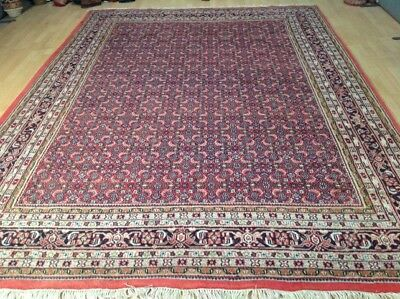 "Large PERSIAN design CARPET RUG Hand Made Traditional WOOL 11ft 12"" x 8ft 2"""