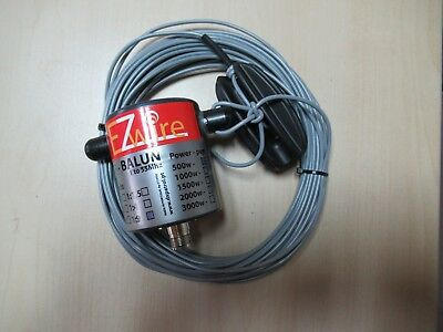 Multiband Dipol endgespeist  End Fed 1:9 Balun EZwire 10m - 160m L:16,2M 1KW