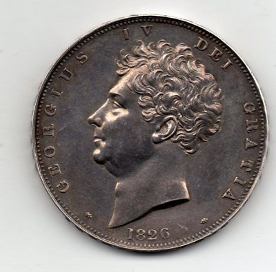 1826 Crown, Proof issue, George IV, very rare