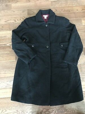 Black Womens Maternity Coat MOTHERHOOD MATERNITY SIZE SMALL