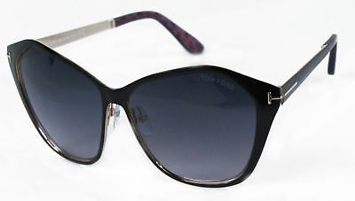 416cd13a95a6 TOM FORD BUTTERFLY Sunglasses TF391 Lena 05B Black Gold FT0391 ...