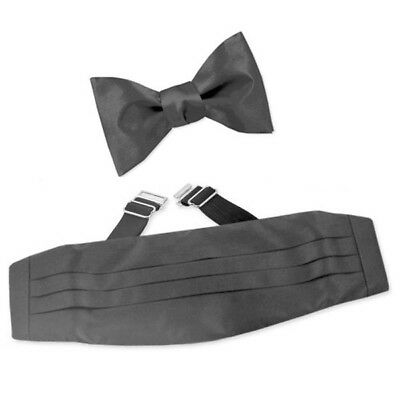 Premium Satin Solid Plain Wedding Tuxedo Pleated Adjustable Men's Cummerbund