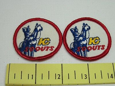 Kansas City Scouts Ice Hockey Vintage Patches 1970's Two Of New Old Stock Cloth