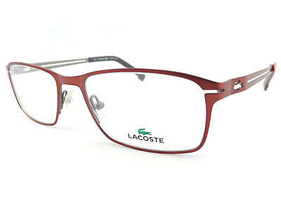 Lacoste Seide Rot Rotguss 53mm Metall Rx Optisch Brillengestell L2167 615