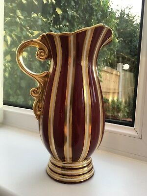 Stunning Vintage 1950's Striped WADE EMPRESS Jug/Pitcher