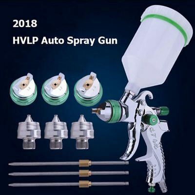 2008HVLP Auto Paint Air Spray Gun Kit Gravity Feed Car Primer 1.4MM~2.0MM Nozzle