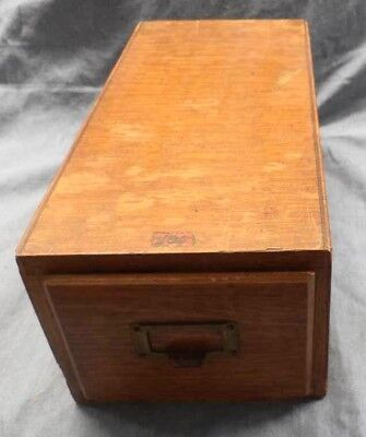 Vintage Wooden Recipe File Drawer Old Fashioned Delicious Recipes Home Cooking!!