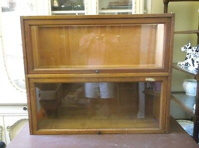 2 Sections Macey Barrister Bookcase - Oak Finish -  Final Listing!