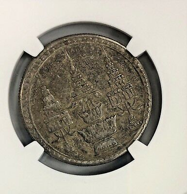 1869 Thailand One Baht Silver Coin NGC XF40