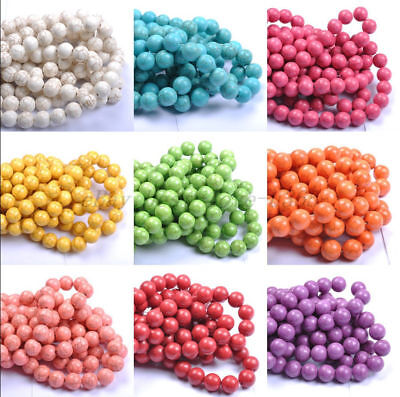 Wholesale TURQUOISE ROUND Charms Loose Spacer BEADS - Choose 6MM 8MM 10MM 12MM