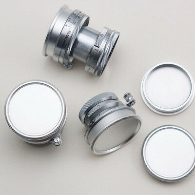 Metal Silver 1*Rear Lens + Body Cap Cover Screw Mount for Leica M39