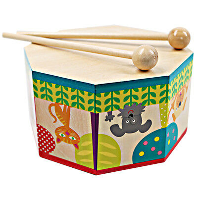 Orff Instrument Wooden Drum Hand Percussion Music & Art Kids Sound Toy Gifts