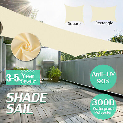 300D Sun Shade Sail Waterproof Garden Patio Awning Canopy Screen UV Block