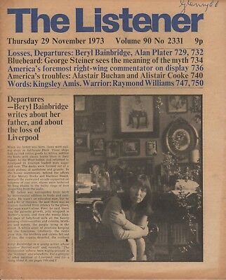 THE LISTENER (29 November 1973) BERYL BAINBRIDGE ON LIVERPOOL - AMIS - STEINER