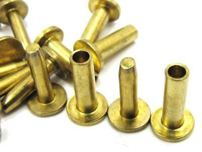 """NEW-KNIFE-PARTS : Brass Cutlery Compression Rivets 5/16"""" x 1/2"""" Set of 10"""