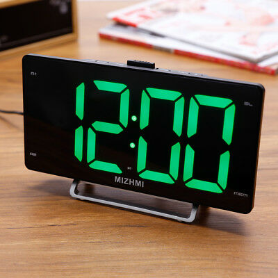 LED Digital Alarm Clock with Snooze Function Large Display Number and Dimmer
