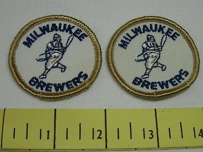 Milwaukee Brewers Vintage Patches Two Inch 1970's New Old Stock Two Of