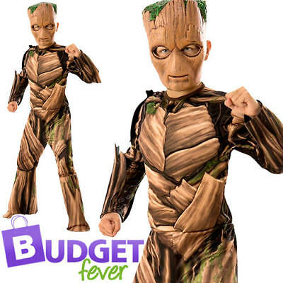 Groot Boys Fancy Dress Guardians of the Galaxy Superhero Kids Costume Outfit