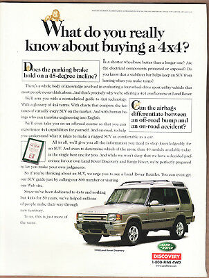 """1998 Land Rover Discovery Ad """"What do you really..."""" Print Ad"""