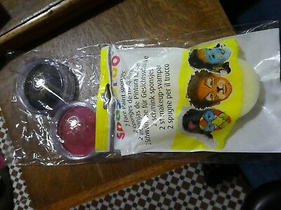Snazaroo Face Painting Sponges for Fancy Dress Face Paint & Two paints, NEW.