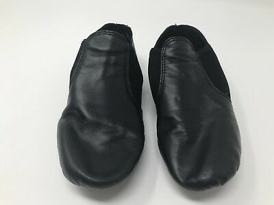 Capezio Jazz Shoe 6.5 Black Leather E Series Slip On