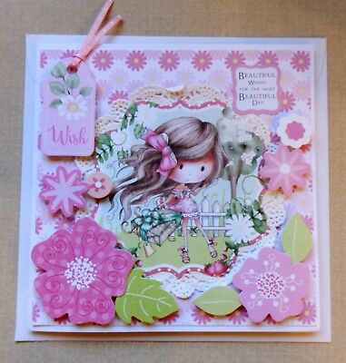 A Handmade Birthday Card For Girls Embellished Dimensional By