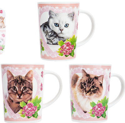Bone China Cat Mug Full Size Tea Coffe Cup Birthday Present Mothers Gift Grandma