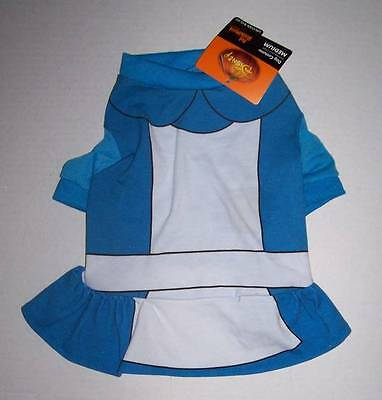 NWT Disney Pet Costume XS - ALICE IN WONDERLAND Dog Cat clothes dress Halloween