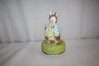 Vintage Beatrix Potter Figural Wind Up Music Box The Tale of Peter Rabbit 1977